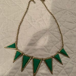 GREEN GEM PARTY NECKLACE